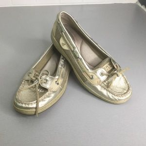 Sherry silver top spider boat shoes SZ 6.5